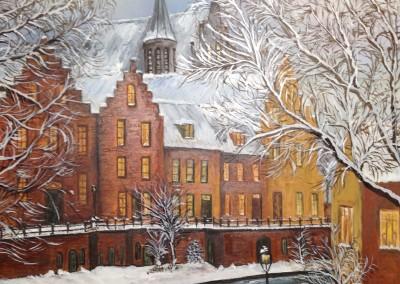 Utrecht op een winterse dag